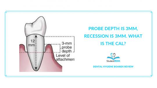 periodontology, CAL, clinical attachment loss, dental hygiene exam prep