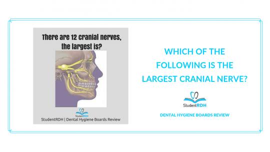 cranial nerves, dental hygiene exam prep