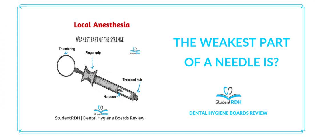 local anesthesia, syringe, dental hygiene exam prep