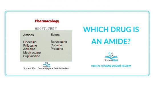 pharmacology, drugs, amide, dental hygiene exam prep