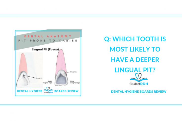 dental anatomy, lingual pit, dental hygiene exam prep
