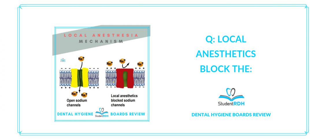 local anesthesia, nerve blocks, dental hygiene exam prep