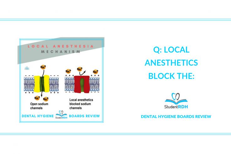 local anesthesia, nerve blocks, dental hygiene exam prep