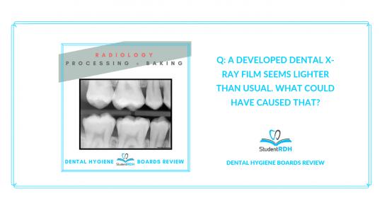 radiology dental hygiene board review