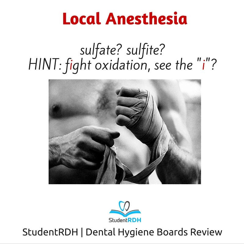 local anesthesia, dental cartridges, dental hygiene exam prep